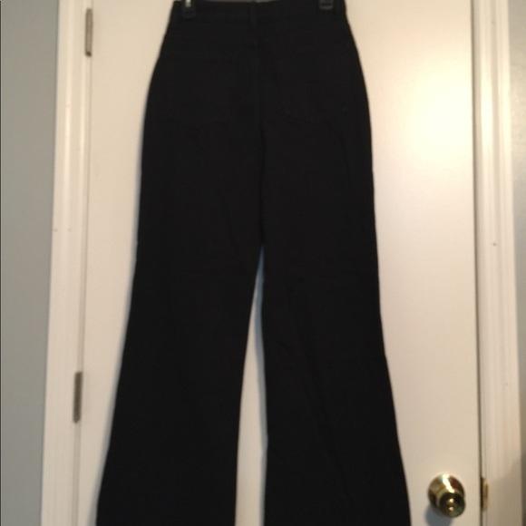 nasty gal Denim - Nasty Gal 100% cotton black wide leg jean